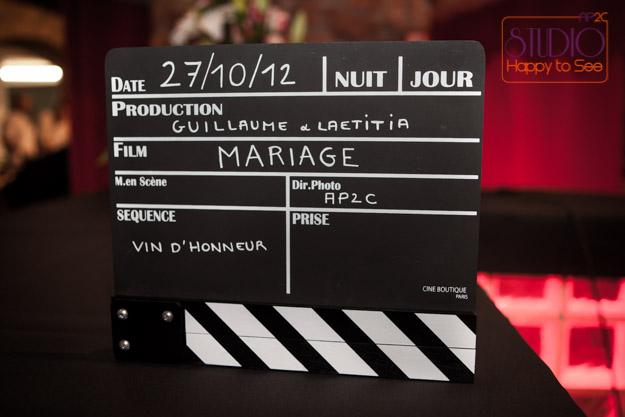 mariage thème cinéma sous la direction de Studio Happy to See