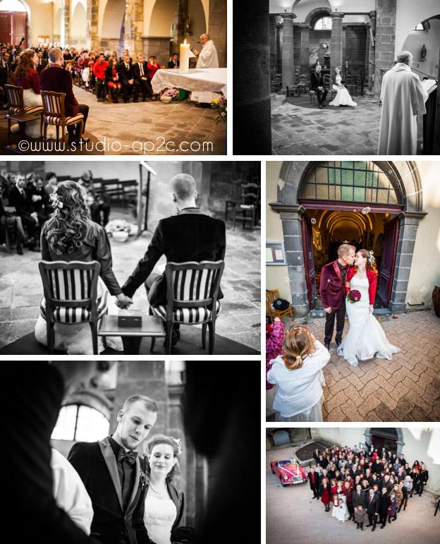 Cérémonie mariage religieuse à l'église de Romagnat près de Clermont-Ferrand