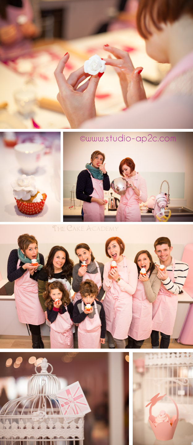 Atelier Cupcake chez The Cake Academy une boutique de wedding cake et cupcake.