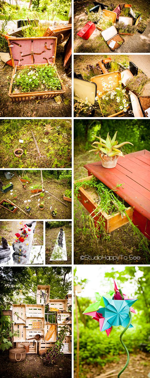 """installations artistiques, poétiques et ludiques sur le thème """"jardins"""""""