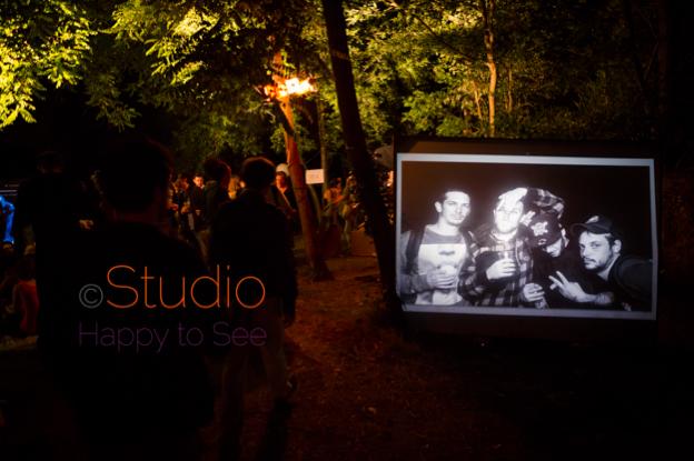 Studio Mobile à la soirée Galerie Éphémère à Toulouse en face de la péniche Samsara