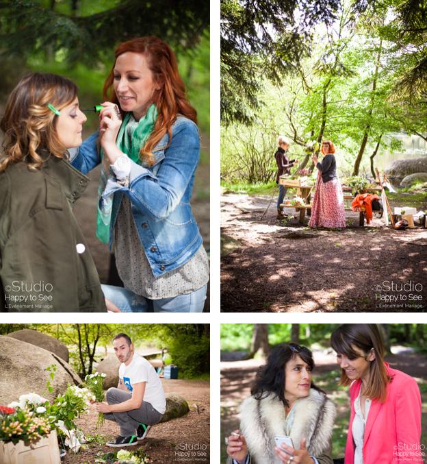shooting photos avec l'Événement mariage, studio happy to See et l'équipe prestataires
