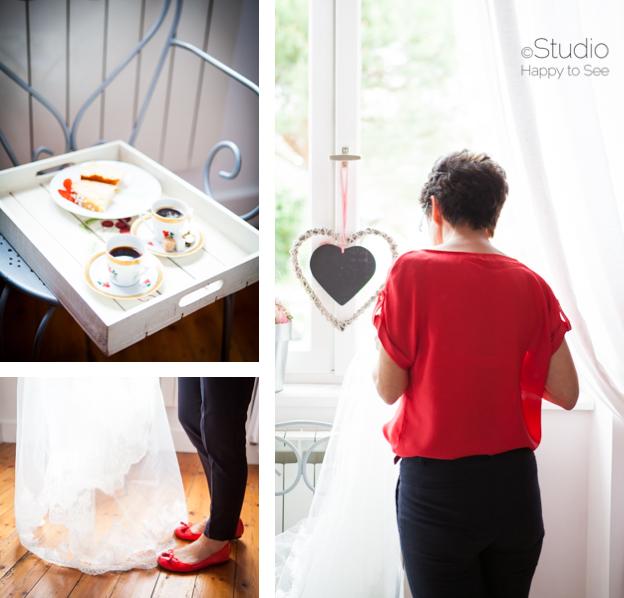 Préparatifs de la mariée à Albi