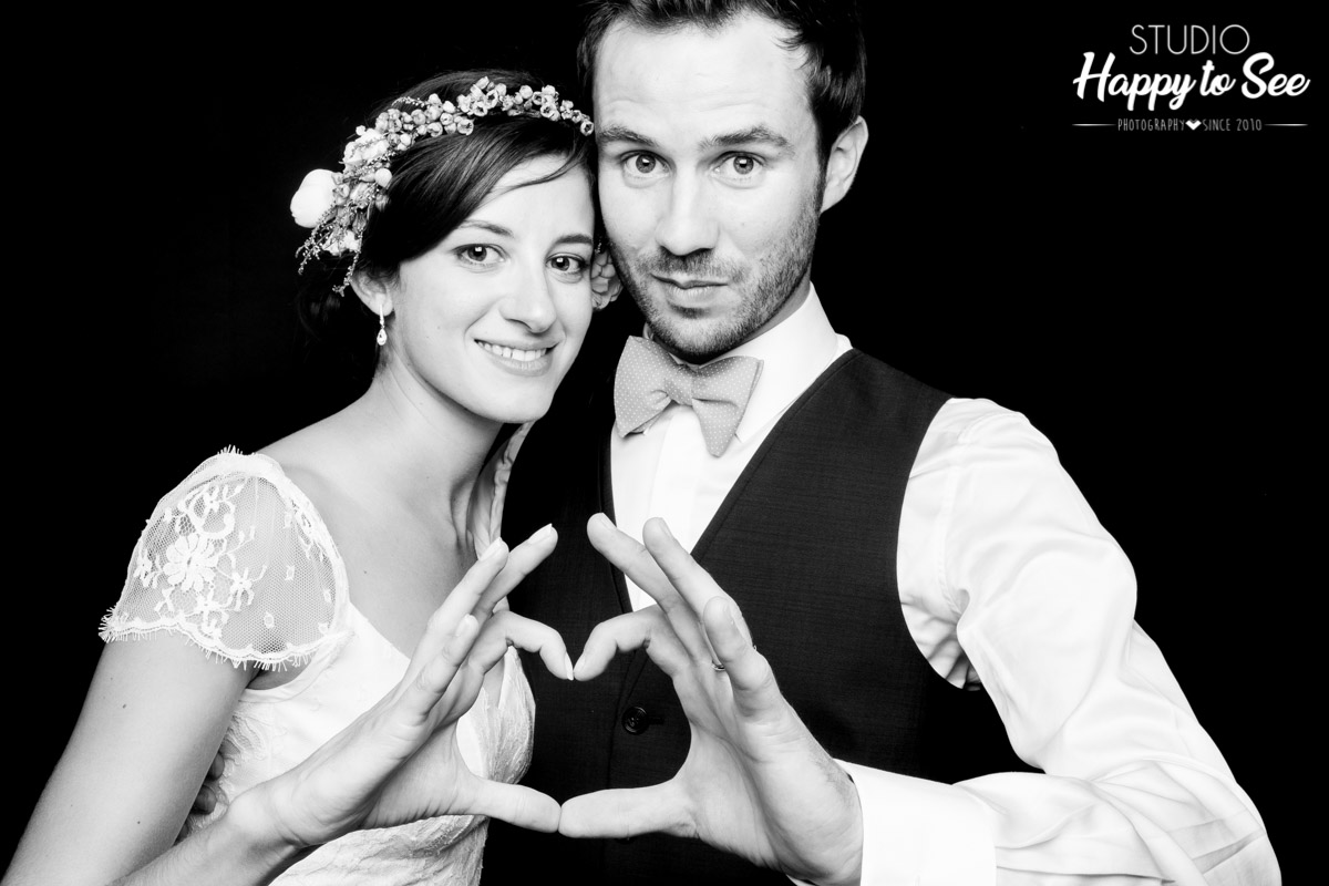 Photobooth mariage funky et branche