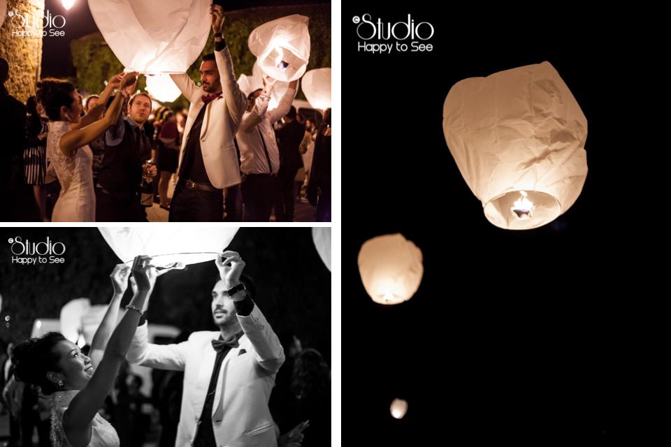Lanternes chinoises Mariage vintage Ariège