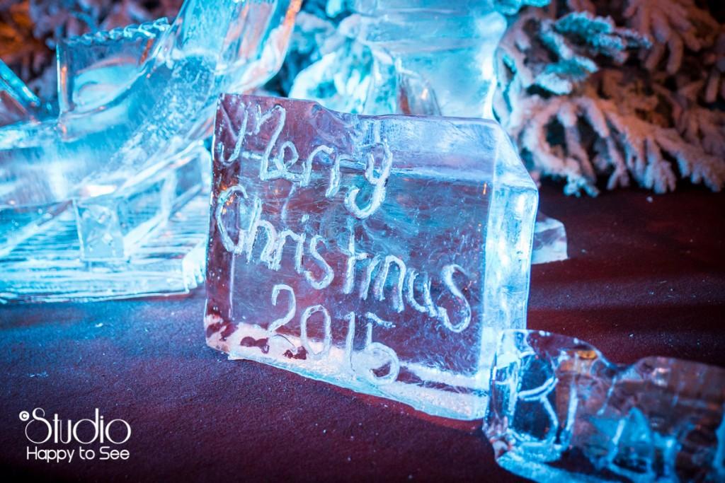 Sculpture sur glace Marché de Noel à Blagnac