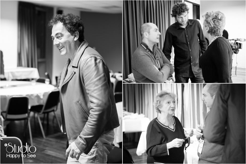 Coulisses Fous Rires de Toulouse au Casino Barriere avec les chevaliers du fiel, Eric Carriere, Marth Villalonga, Olivier de benoist, Yves Pujol.