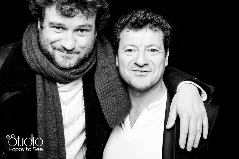 Photomaton au Rex avec Olivier de benoist et Francis Ginibre