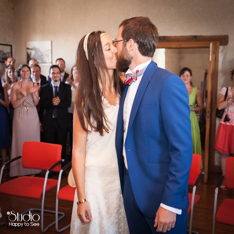 Mariage hippie Mairie de Roquecor