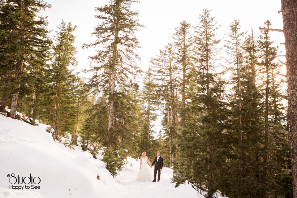 Mariage trash the dress montagne