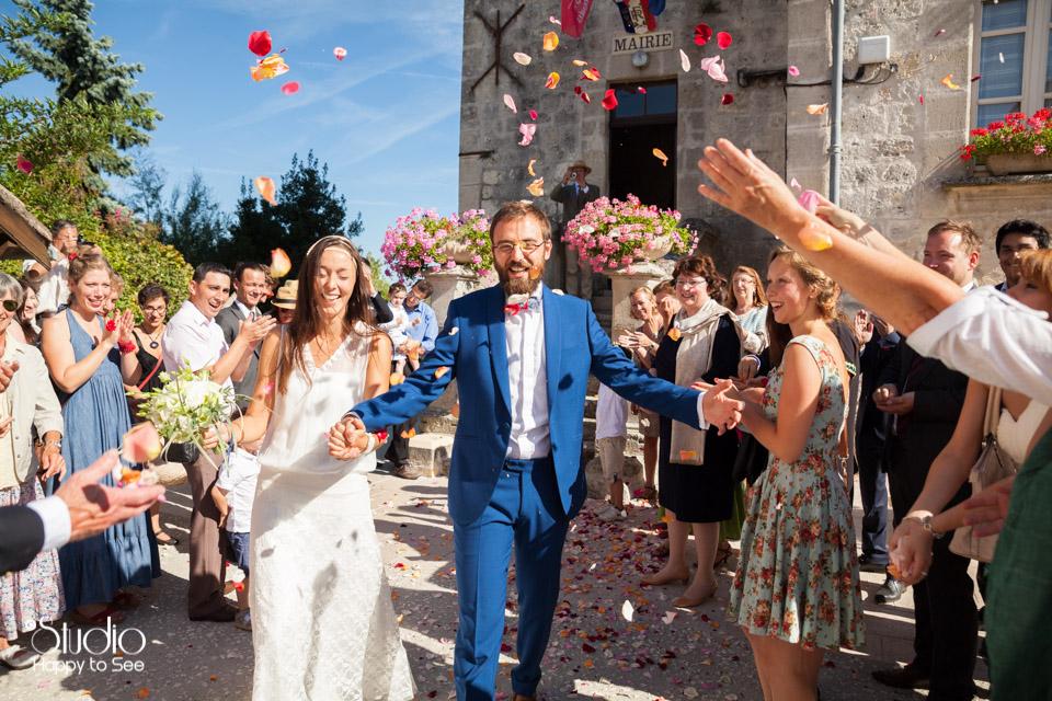 Mariage hippie chic à Roquecor