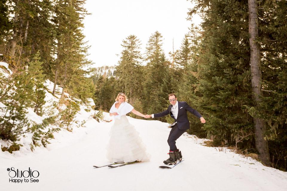 Thrash The Dress Mariage Ax Les Thermes en ski et snowboard