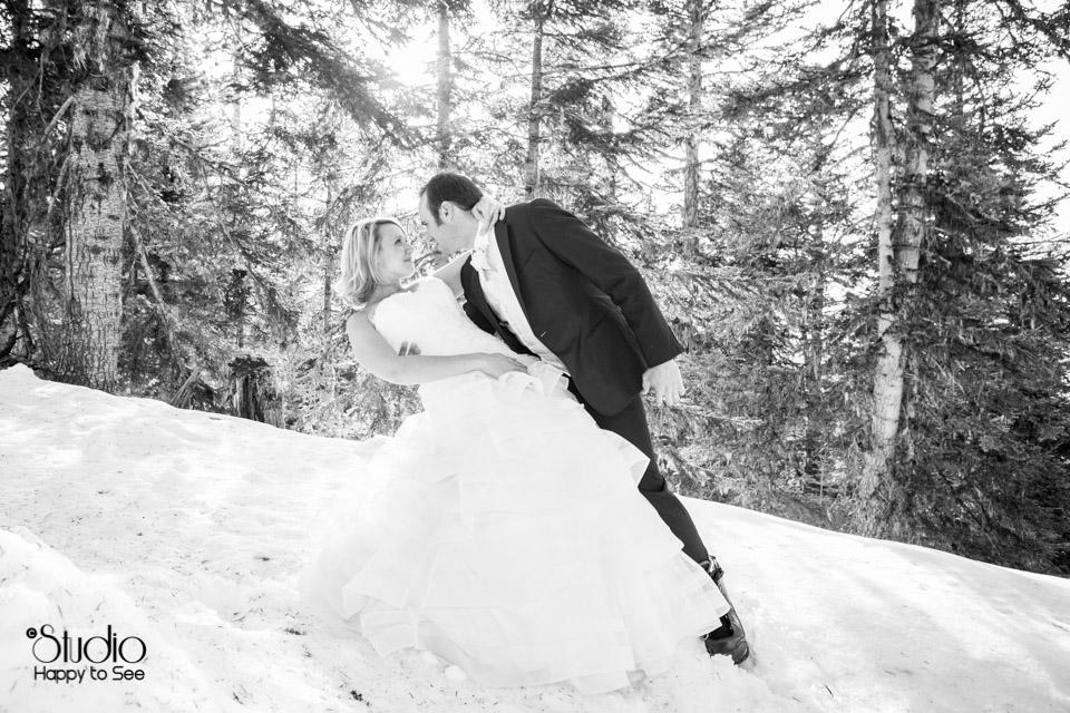 Mariage a la montagne dans les Pyrenees