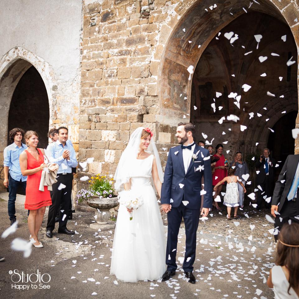 Mariage chic en Ariege Eglise d'Audressein