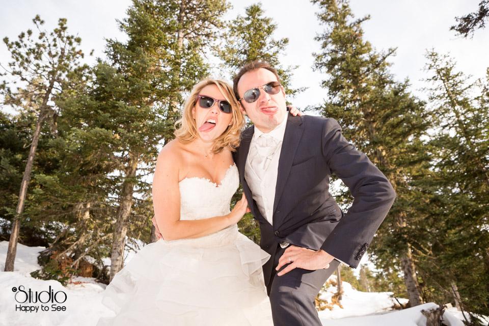 Mariage decale a la montagne