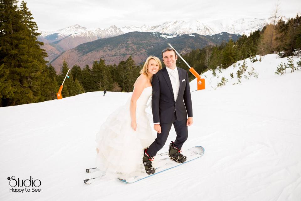 Mariage Neige Ax les Thermes Pyrenees
