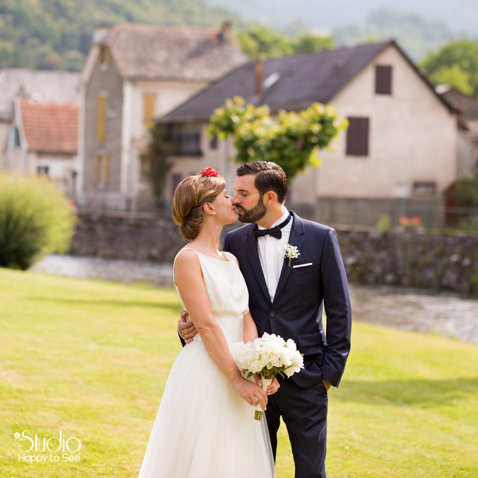 Mariage retro chic en Ariege