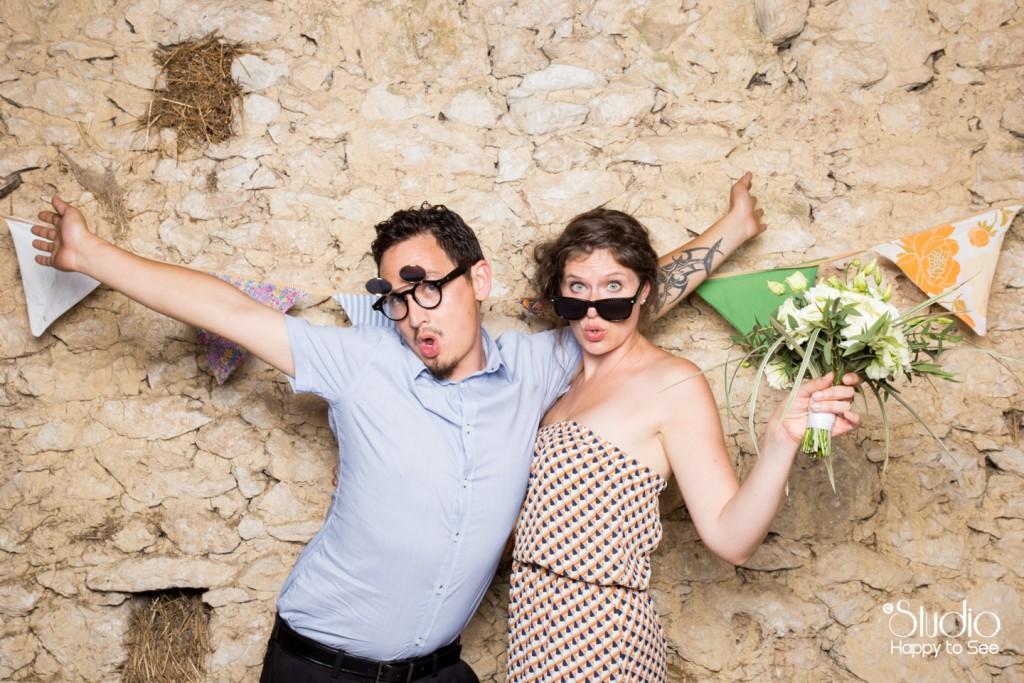 Photomaton mariage champetre