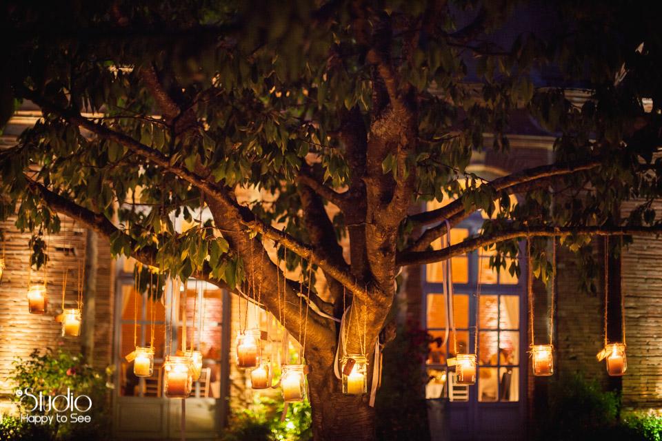Deco Salle Mariage romantique Orangerie de rochemontes