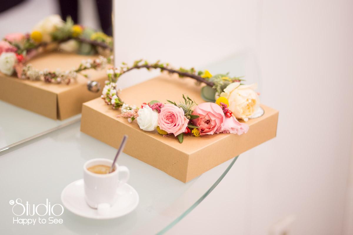 Couronne fleurs mariage