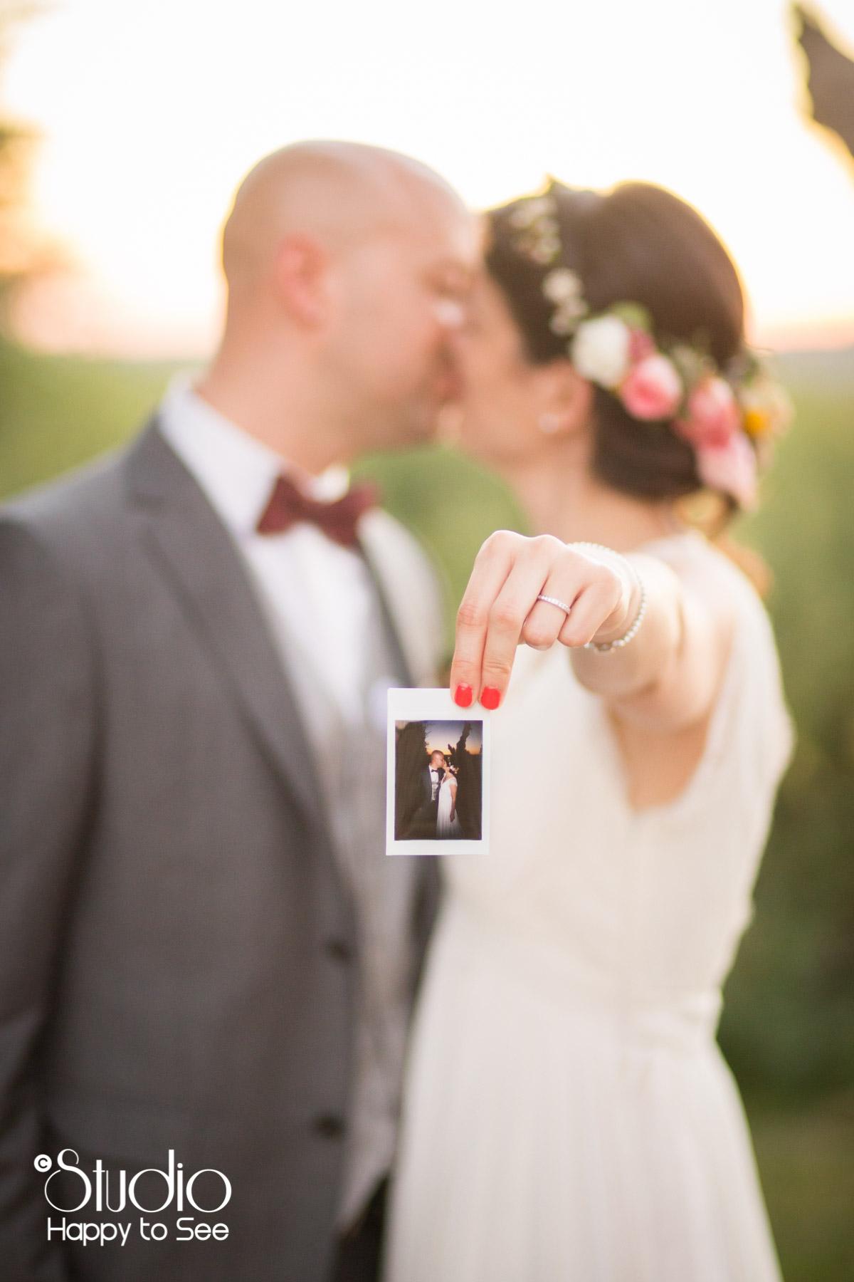 Mariage funky polaroids