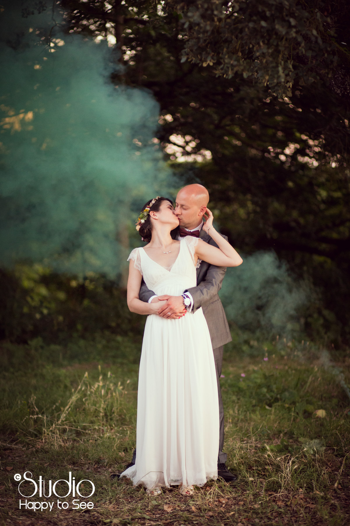 Mariage funky toulouse fumigenes