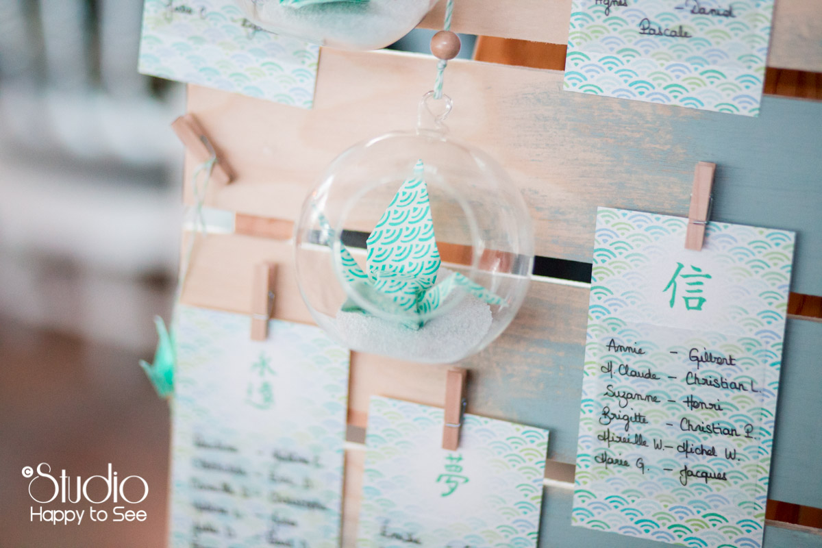 Decoration plan de table mariage
