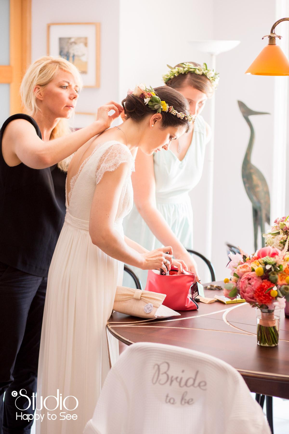 Reportage preparatifs mariage boheme