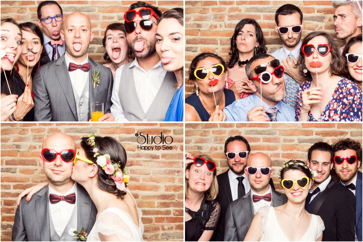 Photobooth funky wedding
