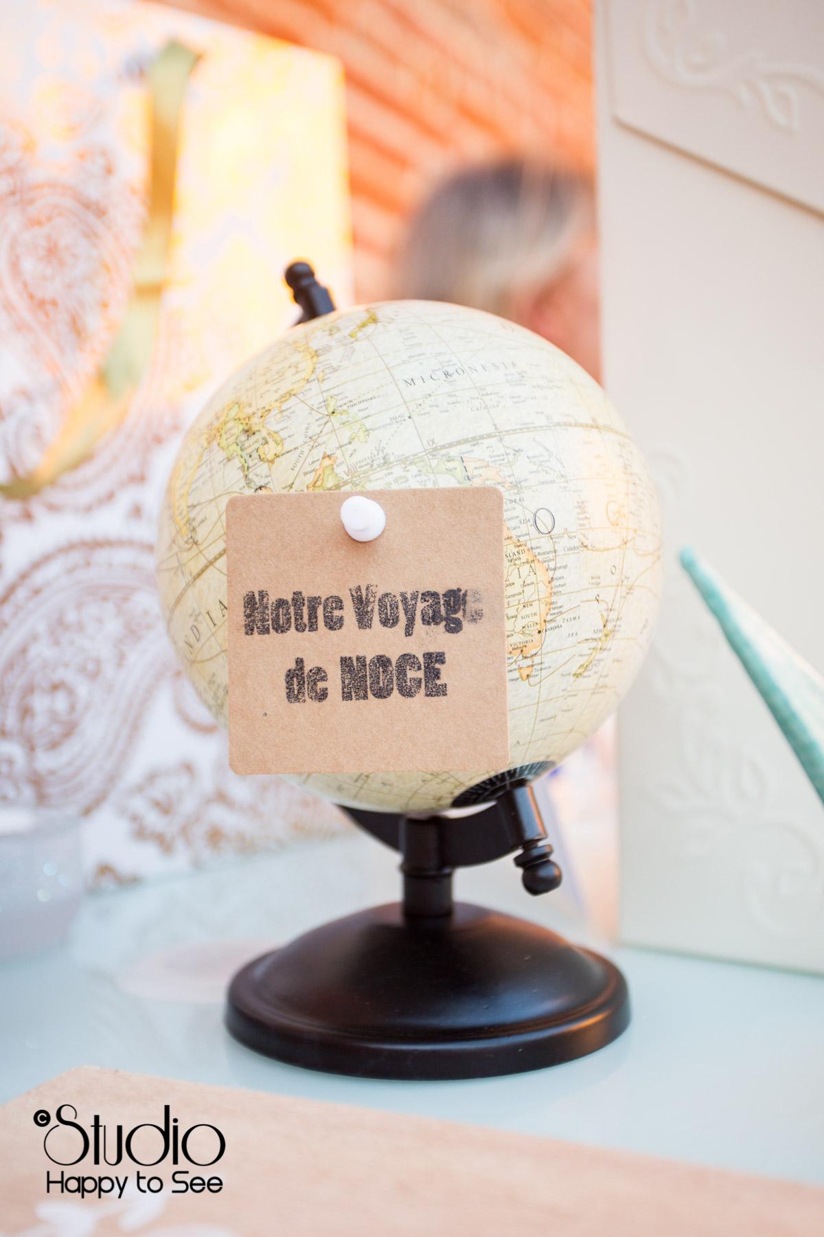 decoration mariage tendance voyage