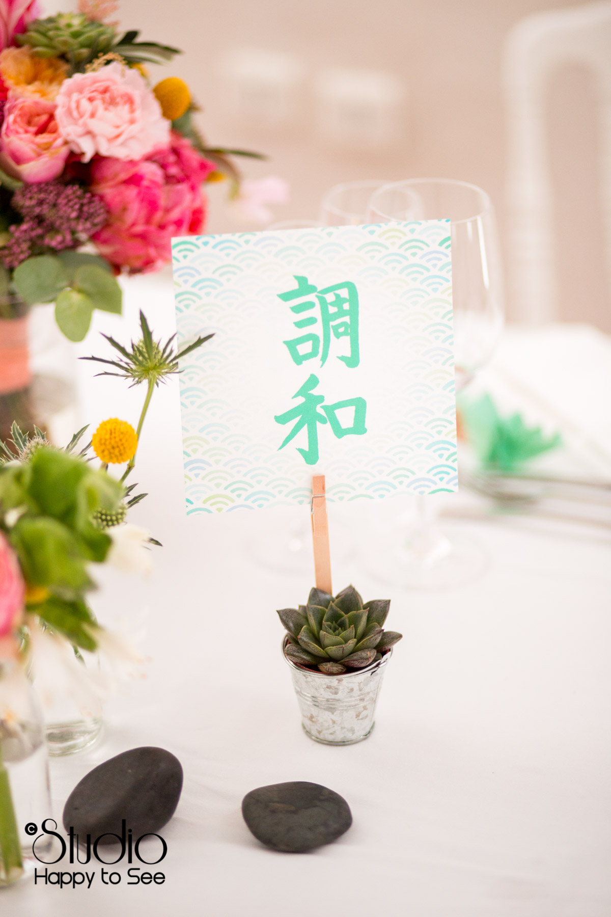 Decoration table mariage tendance japon