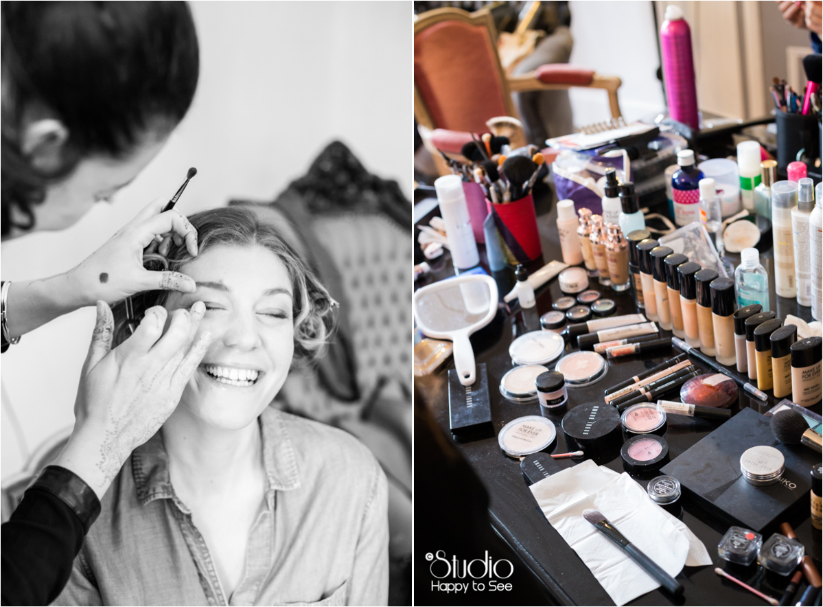 Maquillage mariage domaine de Ronsac