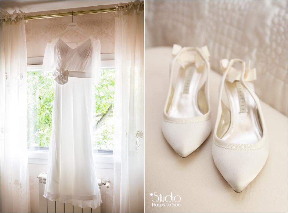 Robe de mariee et chaussures