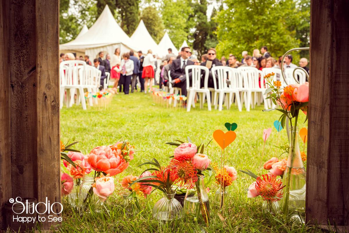 Reportage Mariage ceremonie laique Domaine les jardins de ronsac