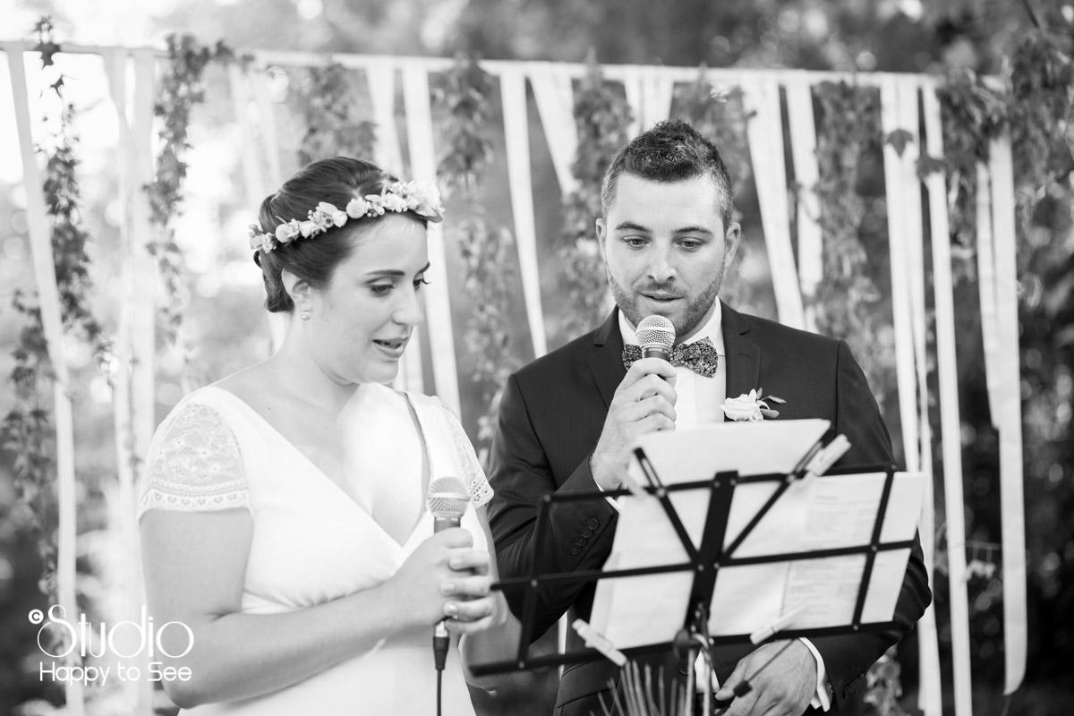 Mariage ceremonie au chateau de saint gery
