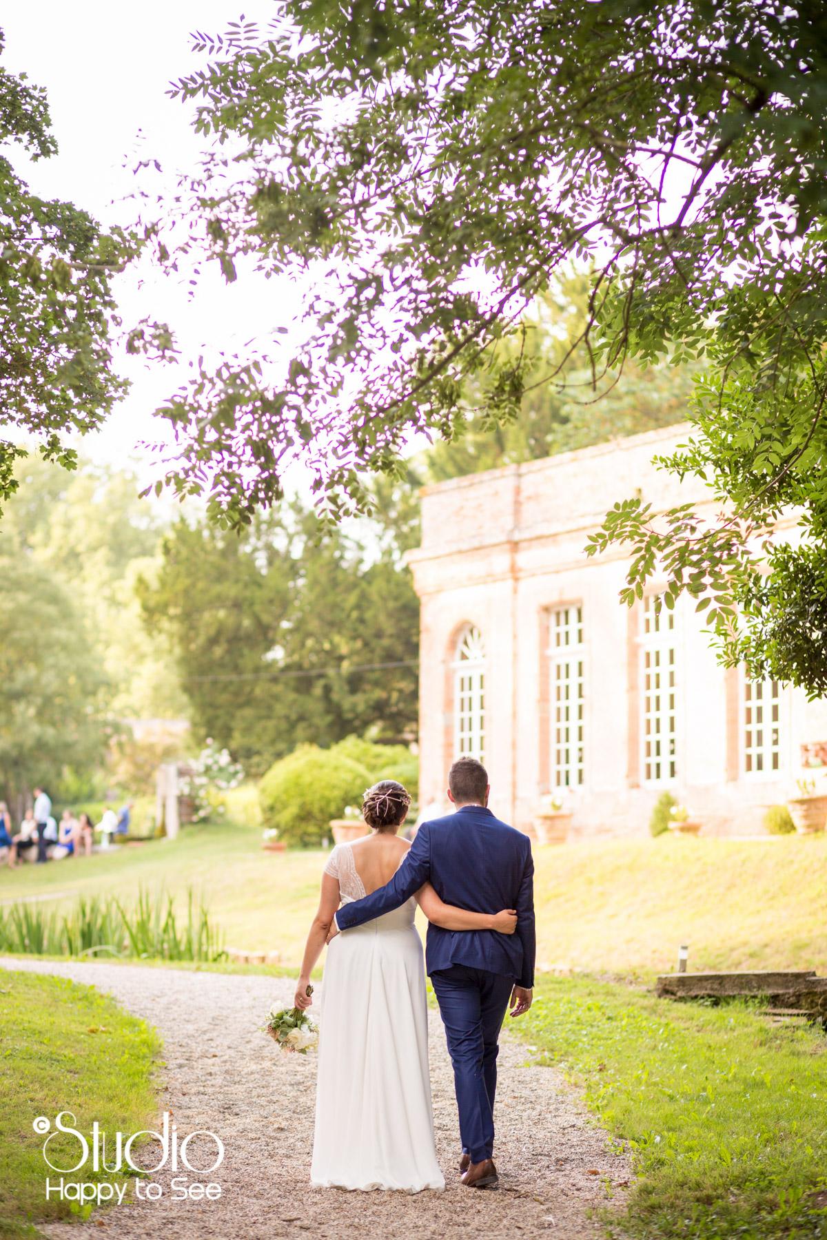 Mariage dans le tarn au chateau de saint gery
