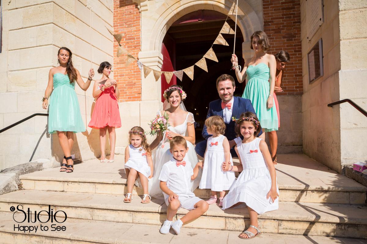 reportage mariage arcachon Eglise notre dame des passes fanions