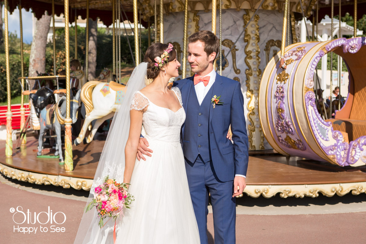 seance couple mariage arcachon manege carrousel