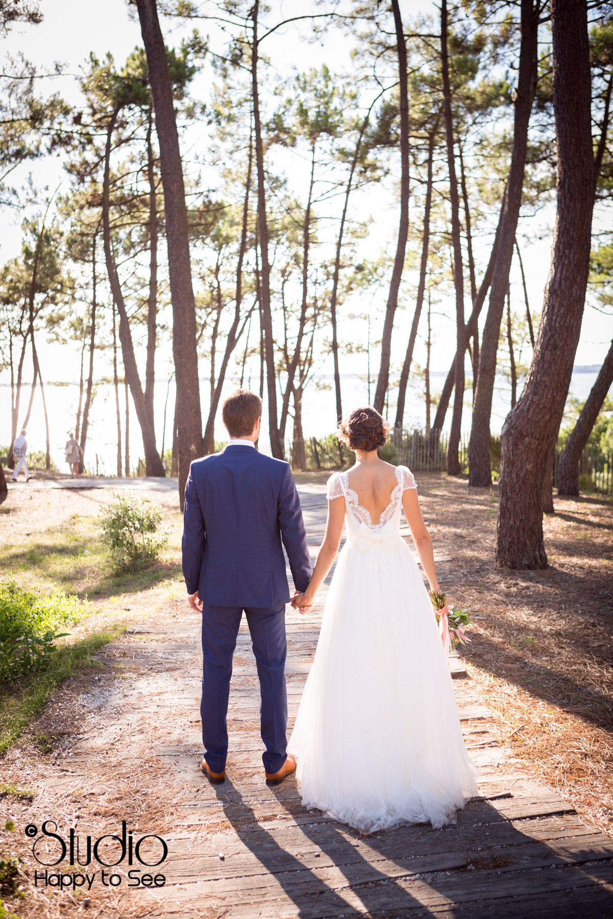 mariage arcachon funky dans une foret de pins