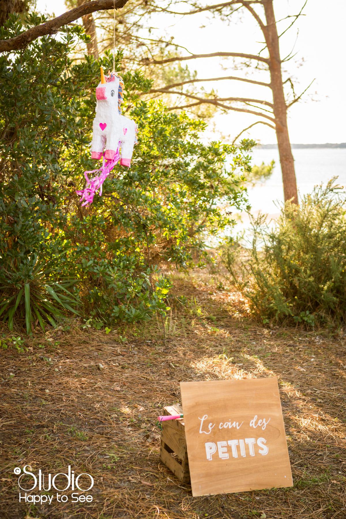 mariage au tir au vol arcachon pinata licorne