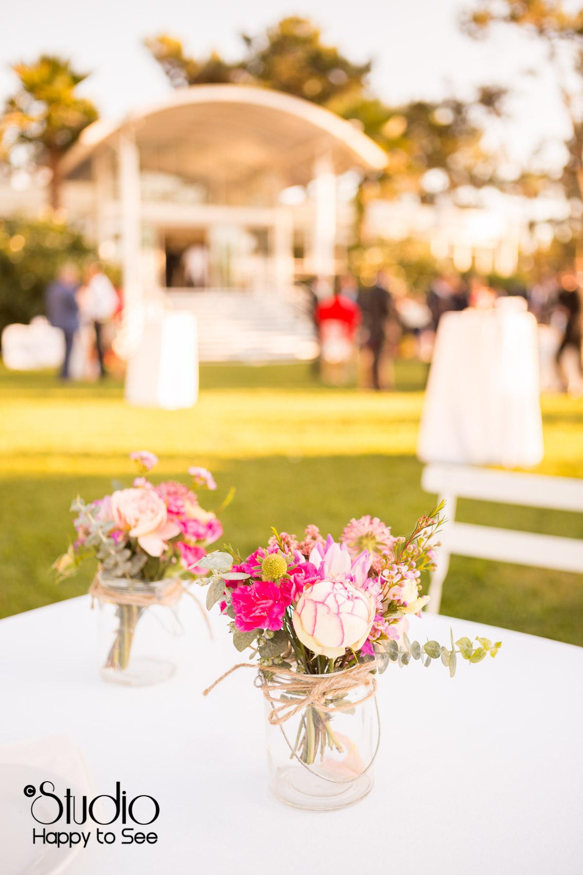mariage salle au tir au vol arcachon decoration fleurs