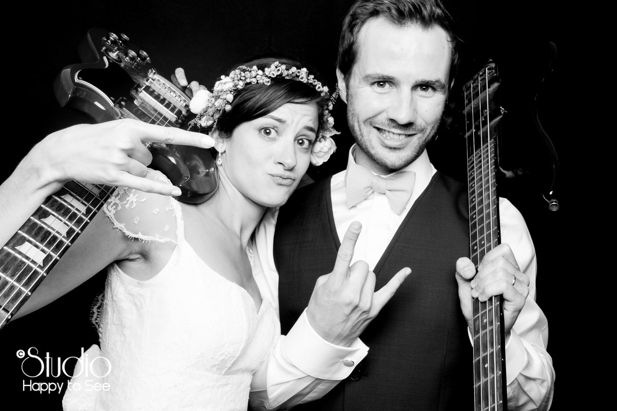 Photobooth mariage rock