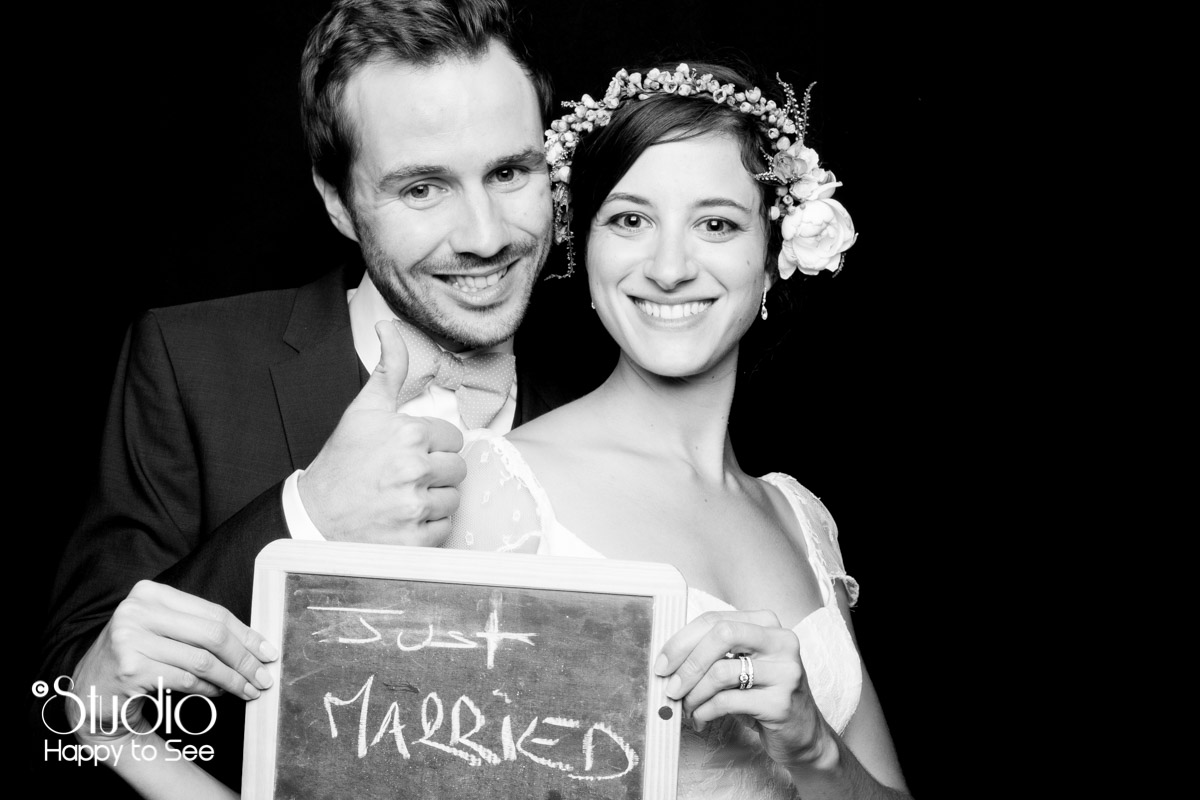 Photobooth mariage just married