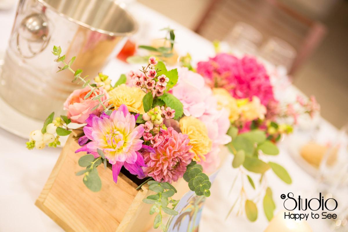 mariage salle tir au vol decoration florale table