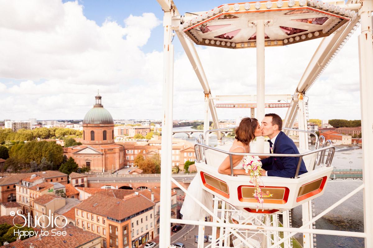 seance photo mariage grande roue toulouse