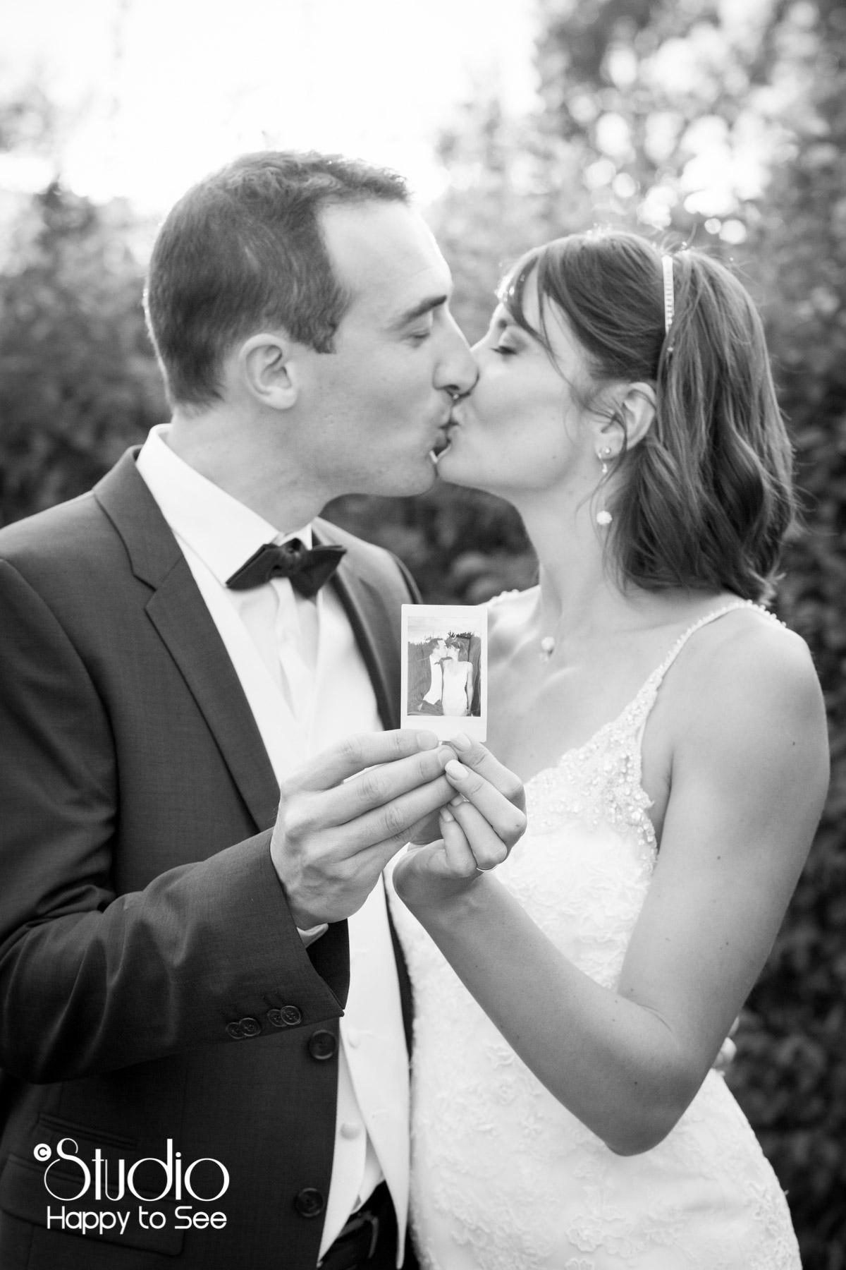 Mariage au domaine de Balestat Polaroid