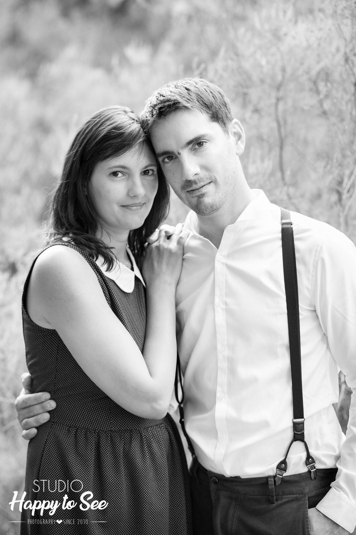 seance photo couple avant mariage foret Buzet sur Tarn