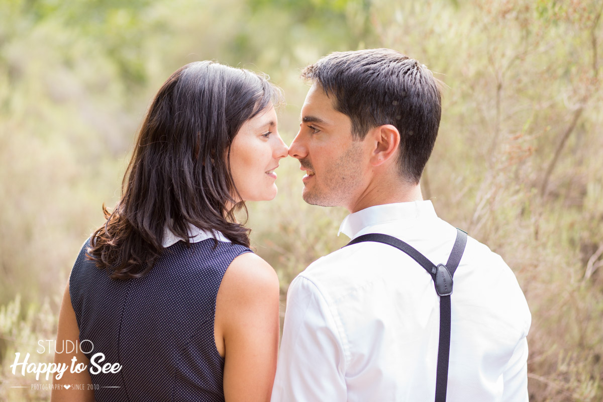 seance photo couple engagement mariage foret Buzet sur Tarn