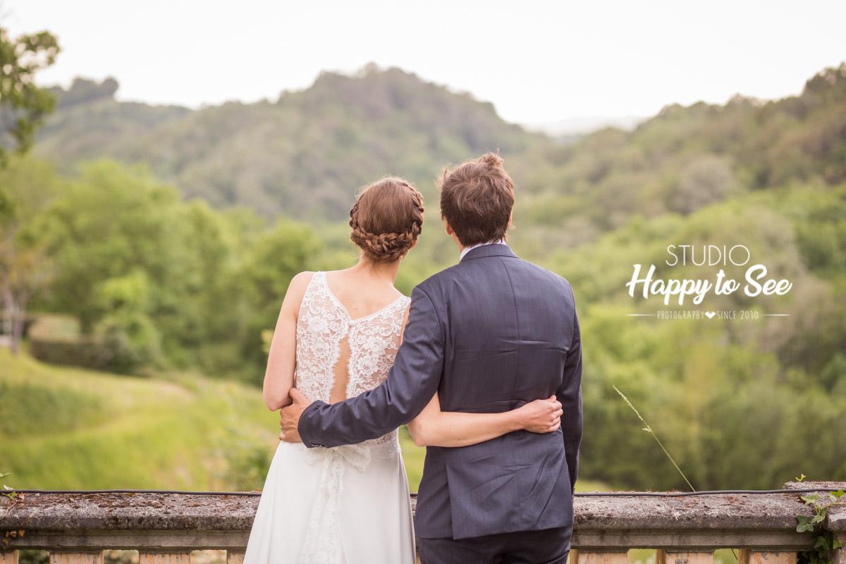 Reportage mariage domaine de Lucain Pau