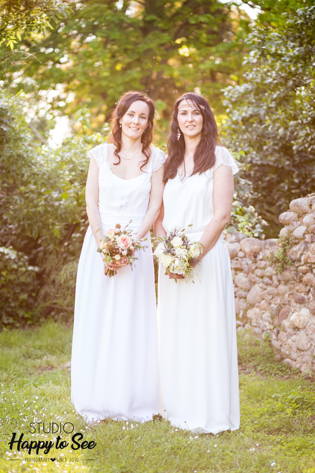 mariage champetre lesbien